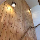 注文住宅 かっこいい工務店 山形 福井建設 自由設計 オープンハウス 山形市みはらしの丘 2017.1118 階段 無垢板
