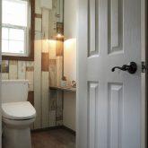 注文住宅 かっこいい工務店 栃木 イエプラン建築事務所 自由設計 施工例14 北米 ブルックリンスタイル トイレ