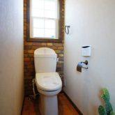 注文住宅 かっこいい工務店 栃木 イエプラン建築事務所 自由設計 施工例14 北米 ブルックリンスタイル 2階 トイレ