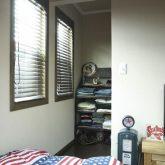 注文住宅 かっこいい工務店 栃木 イエプラン建築事務所 自由設計 施工例14 北米 ブルックリンスタイル 子供部屋 収納スペース