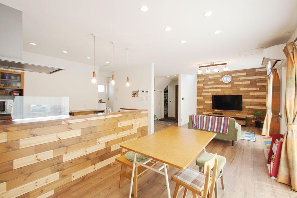 注文住宅 かっこいい工務店 岡山 アイム・コラボレーション アイムの家 施工例10 開放感のある家 リビング&ダイニング