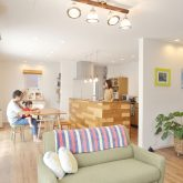 注文住宅 かっこいい工務店 岡山 アイム・コラボレーション アイムの家 施工例10 開放感のある家 リビング