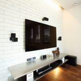注文住宅 かっこいい工務店 岡山 アイム・コラボレーション アイムの家 施工例8 キッチンを空間のメインステージに リビング TVボード