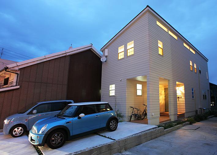 注文住宅 かっこいい工務店 岡山 アイム・コラボレーション アイムの家 施工例11 猫と共生する2階リビングの家 外観