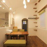 注文住宅 かっこいい工務店 岡山 アイム・コラボレーション アイムの家 施工例11 猫と共生する2階リビングの家 リビング&ダイニング