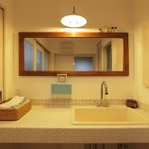 注文住宅 かっこいい工務店 岡山 アイム・コラボレーション アイムの家 施工例11 猫と共生する2階リビングの家 造作洗面