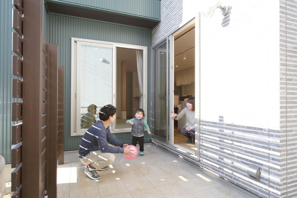 注文住宅 かっこいい工務店 岡山 アイム・コラボレーション アイムの家 施工例12 家事動線の良さと子育てのしやすさを考えた、ご家族が笑顔になる住まい