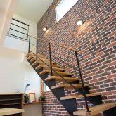 注文住宅 かっこいい工務店 福井建設の家 施工例12 オリジナルスタイル インダストリアルな大人の寛ぎ空間 階段