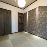 注文住宅 かっこいい工務店 福岡 不動産プラザ 施工例14 プロヴァンス 和室 琉球畳