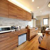 注文住宅 かっこいい工務店 岡山 アイム・コラボレーション アイムの家 施工例15 ゼロエネルギー住宅 キッチン サイドダイニング