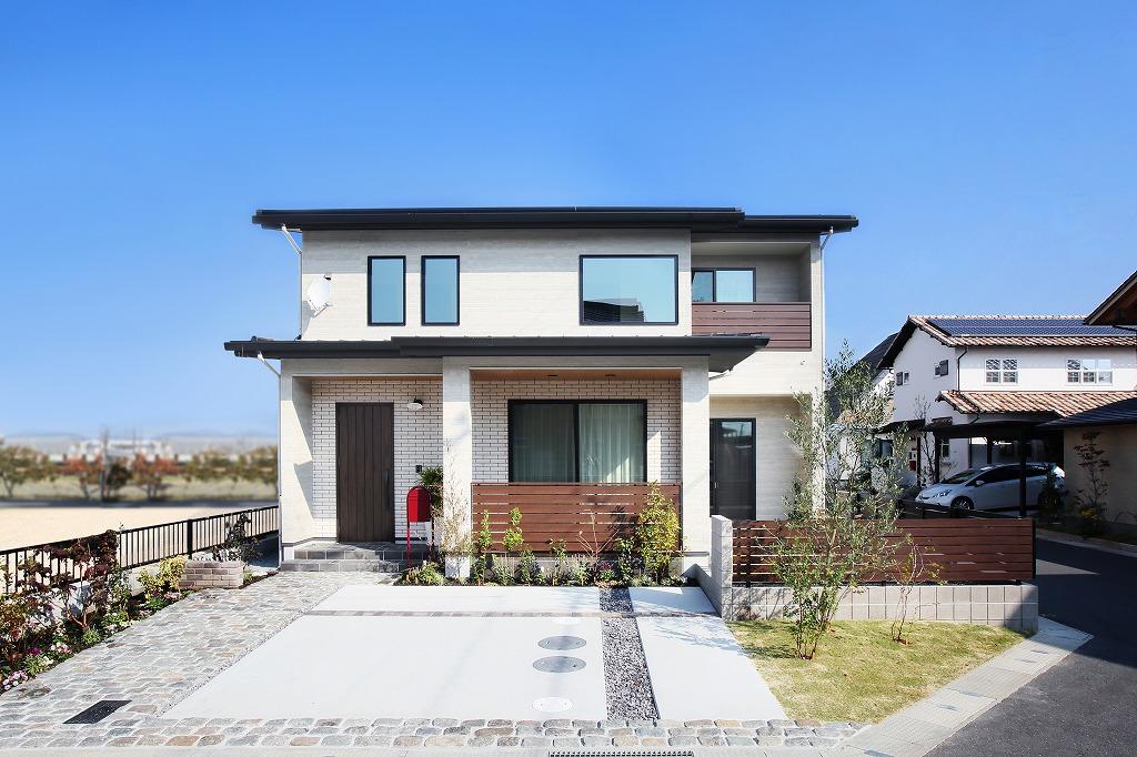 注文住宅 かっこいい工務店 岡山 アイム・コラボレーション アイムの家 施工例15 ゼロエネルギー住宅 外観