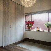 かっこいい工務店 熊本 ブレス ブレスホーム リノベーション ナチュラルモダン サロンのある家 玄関ホール