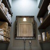 かっこいい工務店 熊本 ブレス ブレスホーム リノベーション ナチュラルモダン サロンのある家 サロン 洗面所