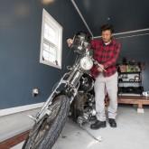 注文住宅 かっこいい工務店 不動産プラザ 施工例7c インナーガレージ バイク