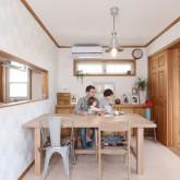 注文住宅 かっこいい工務店 不動産プラザ 施工例1d  平屋(北米スタイル) ダイニング