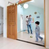 注文住宅 かっこいい工務店 不動産プラザ 施工例1e  平屋(北米スタイル) 子供部屋