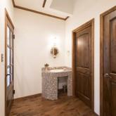 注文住宅 かっこいい工務店 不動産プラザ 施工例2c 1階洗面化粧台