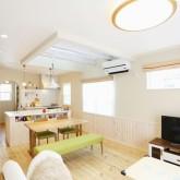 注文住宅 かっこいい工務店 福井建設の家 施工例1c リビングダイニング