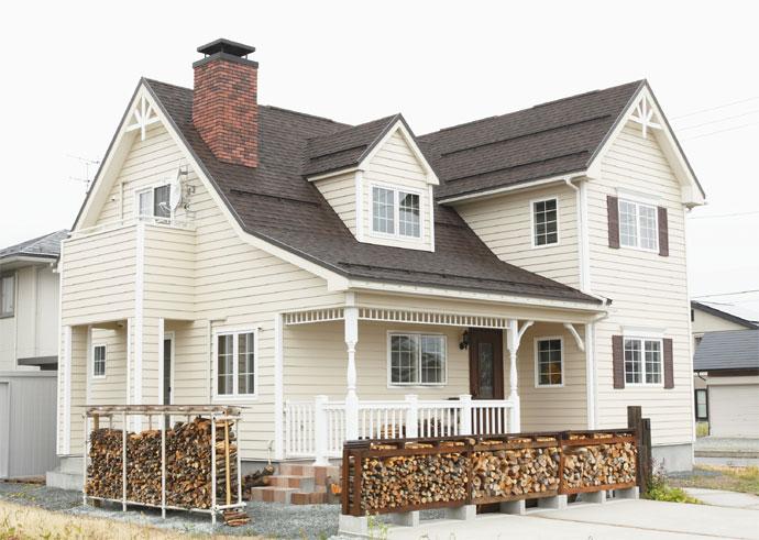 注文住宅 かっこいい工務店 福井建設の家 施工例3a 北米スタイル
