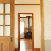 注文住宅 かっこいい工務店 福井建設の家 施工例3d 木製格子ドア