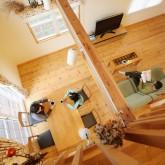 注文住宅 かっこいい工務店 福井建設の家 施工例4n 吹き抜け リビングダイニング