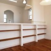 注文住宅 かっこいい工務店 福井建設の家 施工例5g 造作棚