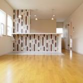 注文住宅 かっこいい工務店 福井建設の家 施工例9d 造作キッチン