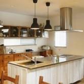 注文住宅 かっこいい工務店 福井建設の家 施工例2j 造作キッチン