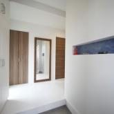 注文住宅 かっこいい工務店 在来工法 ブレス 熊本県熊本市南区 成功例7 シンプルモダン エントランスホール