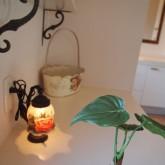 注文住宅 かっこいい工務店 オーダーメイド ミューズ建築工房 施工例1 パウダールーム 造作棚 造作洗面 照明