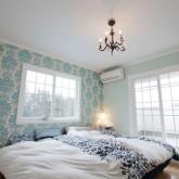 注文住宅 かっこいい工務店 ハウスデザイン Ie Plan イエプラン 施工例3g 寝室 ローラアシュレイ 壁紙