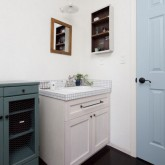 注文住宅 かっこいい工務店 ハウスデザイン Ie Plan イエプラン 施工例7i パントリー 造作洗面