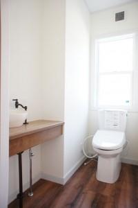 注文住宅 かっこいい工務店 輸入住宅 北条建設 完成見学会 熱海市 1階トイレ