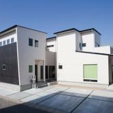 注文住宅 かっこいい工務店 規格住宅 熊本 ブレス 施工事例 熊本市南区 シンプルモダン 外観