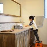 注文住宅 かっこいい工務店 規格住宅 熊本 ブレス 施工例 熊本市東区 ナチュラルモダン 造作洗面