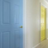 注文住宅 かっこいい工務店 栃木 ハウスデザイン イエプラン 施工例 南仏タイプ 2階 コロニストドア 自然塗料