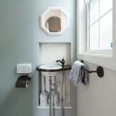 注文住宅 かっこいい工務店 栃木 ハウスデザイン イエプラン 施工例 南仏タイプ トイレ 造作洗面
