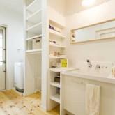 注文住宅 かっこいい工務店 熊本 ブレス ブレスホーム 施行例 プロヴァンス パウダールーム 造作洗面 21i