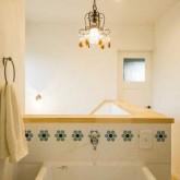 注文住宅 かっこいい工務店 熊本 ブレス ブレスホーム 施行例 プロヴァンス 造作洗面 21k