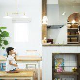 注文住宅 かっこいい工務店 熊本 ブレス ブレスホーム 施行例24 プロヴァンス ダイニング&キッチン オープンキッチン 造作