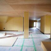 注文住宅 かっこいい工務店 静岡 輸入住宅 施工例11 コッツウォルズ 屋根裏部屋 作業中
