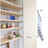注文住宅 かっこいい工務店 栃木 イエプラン建築事務所 施工例13 オープンキッチン パントリー