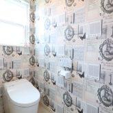 注文住宅 かっこいい工務店 栃木 イエプラン建築事務所 施工例13 ニューヨークスタイル ニューヨーカー 2階 トイレ