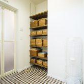 注文住宅 かっこいい工務店 熊本 ブレス ブレスホーム 施行例25 プロヴァンス 脱衣所 造作棚