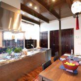 注文住宅 かっこいい工務店 熊本 ブレス ブレスホーム 施工例27 和風建築 平屋 キッチン&ダイニング アイランドキッチン