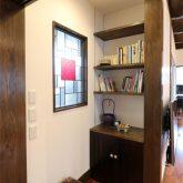 注文住宅 かっこいい工務店 熊本 ブレス ブレスホーム 施工例27 和風建築 平屋 造作棚 ステンドグラス