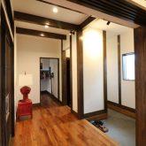 注文住宅 かっこいい工務店 熊本 ブレス ブレスホーム 施工例27 和風建築 平屋 玄関ホール 梁