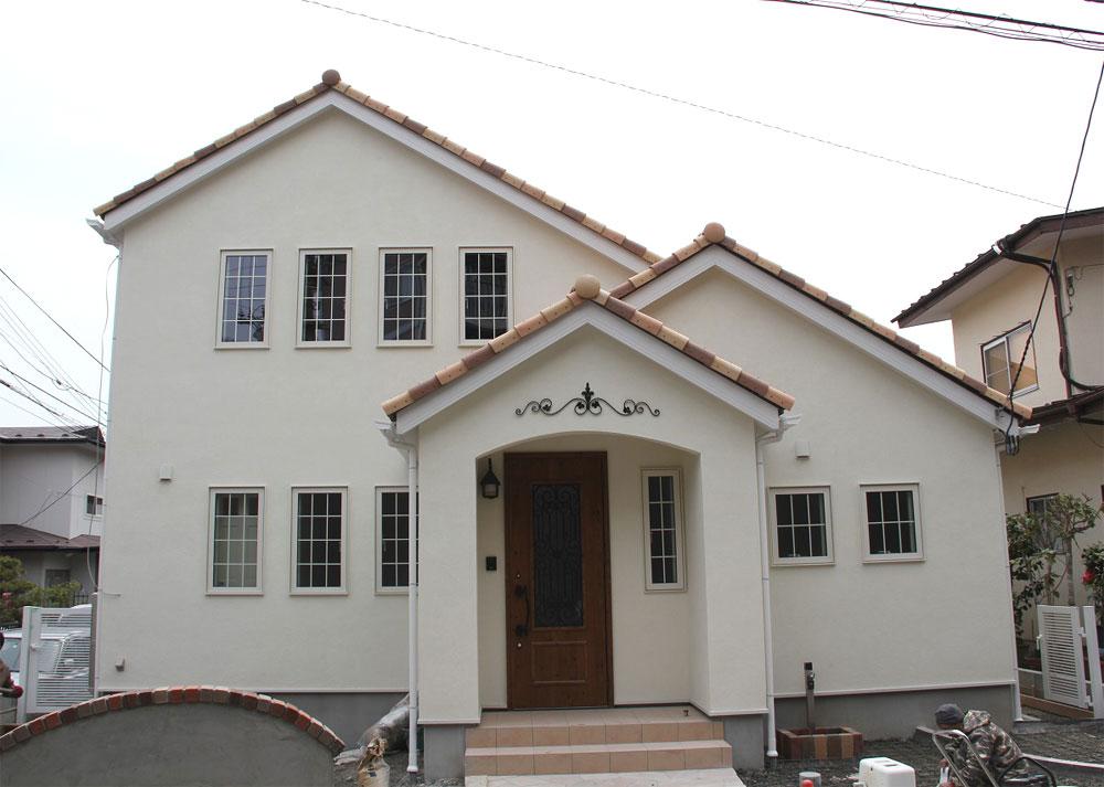 注文住宅 かっこいい工務店 宮城 富樫工業 トガシホーム プロヴァンス 塗り壁 外観