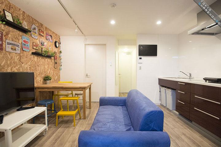 注文住宅 かっこいい工務店 東京 バークノア 新築・増改築・リフォーム・リノベーション 設計デザイン施工管理 施工例8 シェアハウス 新宿区 シンプル&モダン リビング