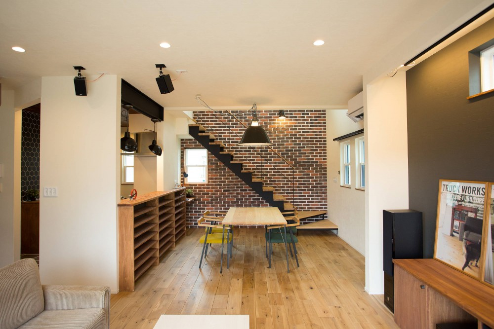 注文住宅 かっこいい工務店 福井建設の家 施工例12 オリジナルスタイル インダストリアルな大人の寛ぎ空間